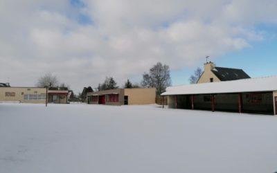Neige à l'école